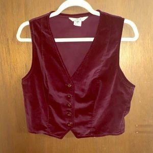 Vintage 60s velvet vest